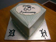 Diamond Shaped Anniversary Cake