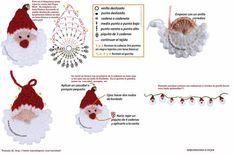 Crochet Santa Garland