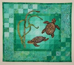 Turtles Wall Quilt Kit  by donnaburkholder on Etsy, $20.00