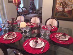 Suplas de croche, guardanapo e porta guardanapo feito para o Natal na minha casa | Ana Ribas Artesanato