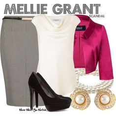 Inspired by Bellamy Young As Mellie Grant on Scandal.
