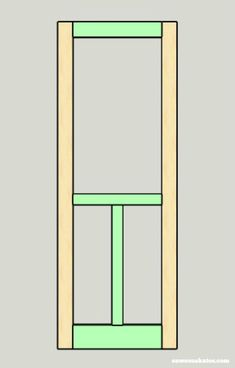 Looking for screen door ideas? Build your own wooden DIY screen door with these plans - assemble the frame Front Door With Screen, Wood Screen Door, Wooden Screen, Wood Doors, Screen Doors, Building A Wooden Gate, Welcome Signs Front Door, Bamboo Room Divider, Porch Doors