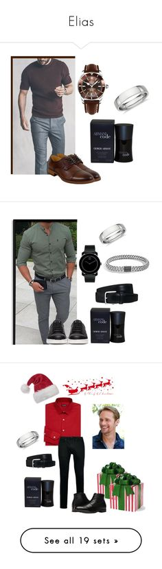 """Elias"" by safiahaifisch ❤ liked on Polyvore featuring Giorgio Armani, Blue Nile, Breitling, Florsheim, men's fashion, menswear, Tod's, Undercover, Movado and John Hardy"