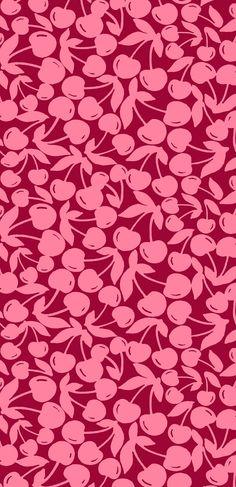 Oliver Bonas 'Cherry' print, designed in house for Fashion Collection. Kids Prints, Fun Prints, Floral Prints, Conversational Prints, Jumpsuit For Kids, Oliver Bonas, Pretty Patterns, Surface Pattern Design, Phone Backgrounds