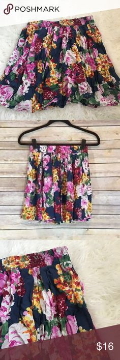 Floral Skirt ❥ Floral Skirt  ❥ Stretchy Waistline ❥ Tag isn't on anymore since it was scratchy Brandy Melville Skirts Circle & Skater