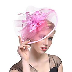 Tulle Feather Fascinators 1 Wedding Special Occasion Headpiece daad9cd652a0