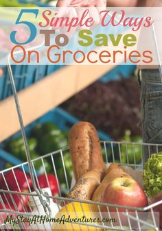 Start saving money on your groceries without the stress. Check out 5 Simple Ways To Save On Groceries that will help you slash your grocery bill.