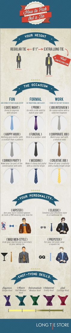 How to Pick Out a Tie [infographic]