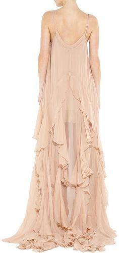 Julien Macdonald Peignoir Convertible Silk-chiffon Gown