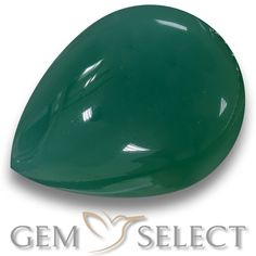 GemSelect features this natural Agate from India. This Green Agate weighs 6.6ct and measures 14.3 x 10.9mm in size. More Pear Cabochon Agate is available on gemselect.com #birthstones #healing #jewelrystone #loosegemstones #buygems #gemstonelover #naturalgemstone #coloredgemstones #gemstones #gem #gems #gemselect #sale #shopping #gemshopping #naturalagate #agate #greenagate #peargem #peargems #greengem #green Green Gemstones, Loose Gemstones, Natural Gemstones, Agate Gemstone, Gemstone Colors, Buy Gems, Green Agate, Gem S, Shades Of Green