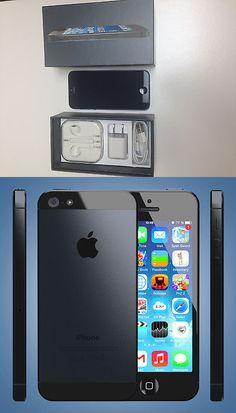 cell phones: New In Box Apple Iphone 5 - 16Gb - Black And Slate (Verizon) Smartphone BUY IT NOW ONLY: $189.99