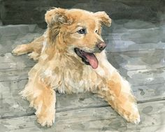 realistic dog painting