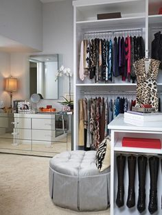"""Add Some Pullout Hooks Use hooks to organize clothing and handbags. Many people don't think to add hooks to their closet rods because they can take up too much room, but Lisa considers them a must-have for any closet. """"They are essential for packing and getting dressed"""" and will save you unexpected space, she says."""