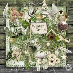 Digital Scrapbook Kit - Wintergreen - Christmas Holiday