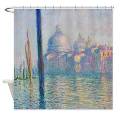 Grand Canal Venice Monet Painting Shower Curtain on CafePress.com