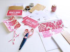 making my holidays personal - lining my envelopes! #zazzle