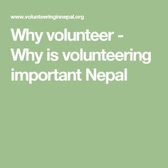 why volunteer Why volunteering is important every day, americans with and without disabilities spend their time and energy making a difference in the lives of people in their communityin 2015, about 626 million people volunteered in their communities.