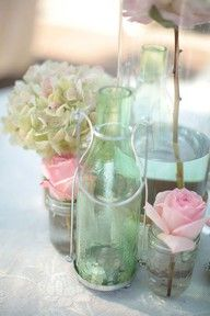 Lovely pink & green shabby chic colors