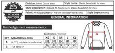 Jogging, Pdf Sewing Patterns, Casual Wear For Men, Measurement Chart, Sewing Techniques, Letter Size, Crew Neck Sweatshirt, Printables, Sweatshirts
