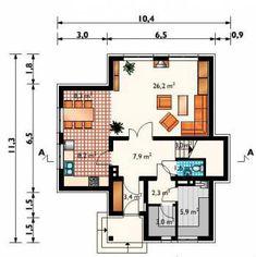 Проект кирпичного дома К1502