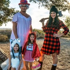 Little Red Riding Hood and the Big Bad Wolf family costume