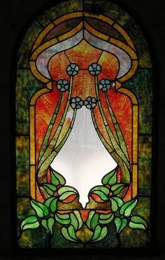 Art nouveau stained glass by Piemouth, via Flickr