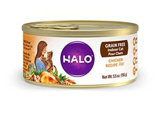 Halo Holistic Wet Cat Food for Indoor Cats, Grain Free Chicken Pâté 5.5 OZ of Indoor Cat Food, 12 Cans ** More info could be found at the sponsored image url.