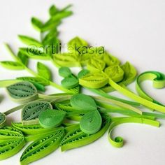 #gogreen and #behappy   #workshopinpoland  #quilled #quilling #paperart#leaves #leaf #green