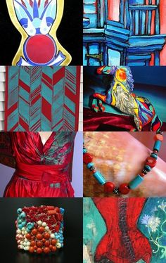 Spirits, a treasury featuring Red Earth tribal, Boho multi-tier necklace by TashinkaBeadingHeart on etsy.com  --Pinned with TreasuryPin.com