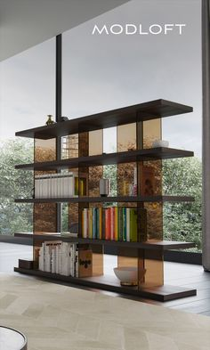 Click through to unlock $100 off the Beekman Bookcase. Showcase your sophistication with the Beekman Bookcase. A multi-tier design featuring your choice of warm wood veneers or high-gloss lacquers affords incredible amounts of display space. Smoked transparent glass columns in complementary colors add a touch of class while contributing to the minimalist aesthetic. Bookcase Shelves, Shelving, Library Shelves, Bookshelf Design, Open Shelves, Bookcases, Furniture Decor, Furniture Design, Modern Furniture