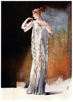 In ancient Greece.    Percy Anderson, from Costume: fanciful, historical, and theatrical, by Eliza Aria, London, 1906.