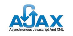 AJAX Logo with Text Blue on White