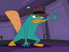 "Perry the Platypus; AKA: Agent P. (Voiced by Dee Bradly Baker) in ""Phineas and Ferb"" Disney S, Disney Love, Phineas And Ferb Perry, Milo Murphys Law, Adventure Time Wallpaper, Perry The Platypus, Movie Characters, Fictional Characters, Aesthetic Painting"