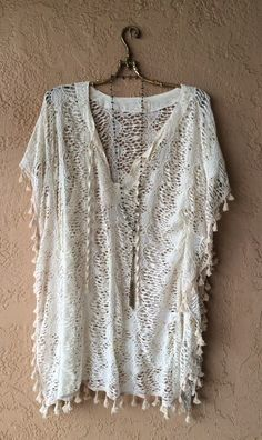 Image of surf GYPSY Beach bohemian pompom coverup for summer