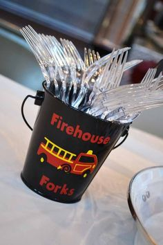 fireman party | Fire House 3rd Birthday {Boy Party Ideas} - Spaceships and Laser Beams