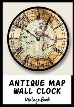 Pedestal clock with moving gears this clock is a nice addition to 2298 15 sale antique map wall clock western hemisphere old world gumiabroncs Image collections