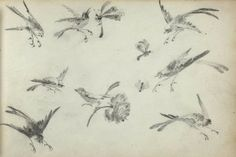 Pencil drawings from an anonymous sketchbook, created in the 1870s.