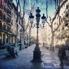 Passeig del Born in Barcelona, Cataluña