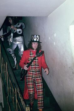 Noddy Holder and Dave Hill from Slade. 1973