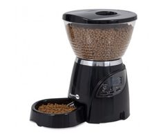 Your pet's food will automatically be dispensed with the amount of food you want at the times you choose.