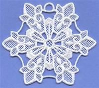Machine Embroidery Designs at Embroidery Library! - A Light & Lacy Snowflakes (Lace) Design Pack - Md