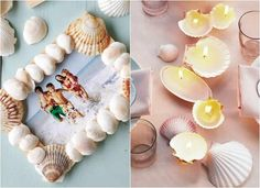 Creative ideas on how to use seashells that you're bringing holiday