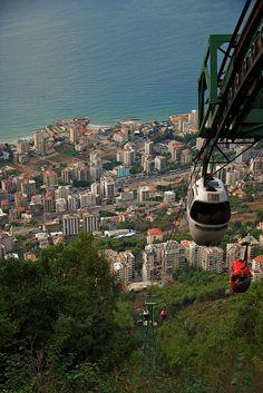 Teleferique ride in Jounieh, Lebanon
