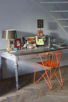 I<3Fermob Threshing Floor, Home Studio, Decoration, Corner Desk, Sweet Home, Flooring, Interior Design, Room, House