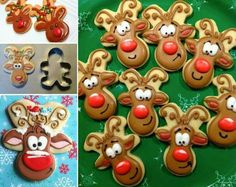 Upside down gingerbread men= perfect reindeer cookies