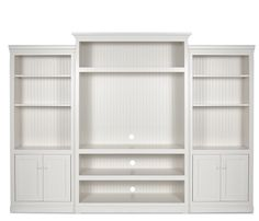 White Wall Unit entertainment center in ivory - contemporary - media room - hawaii