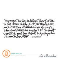 Ali Edwards   Blog: Give Sunday   33