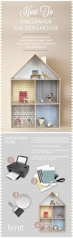 Tapeter till dockhuset #infografik #barnrummet