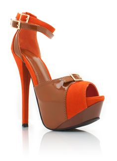two-tone strappy buckled platforms $30.80 I want hot pink :-) I KNOW RIGHT!!!!!