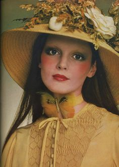 "Butterfly, 1971 (a great example of the ""prairie"" movement, mixing elements of Edwardian fashions and frontier clothing during the Belle Epoch.)"